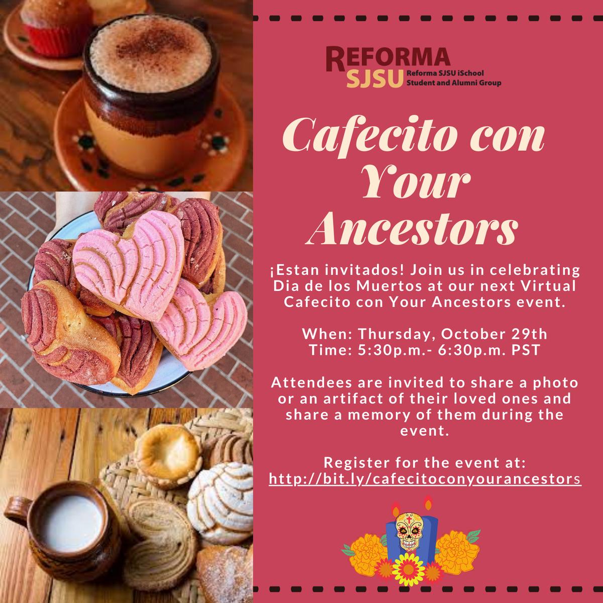 Cafecito con Your Ancestors promotional graphic