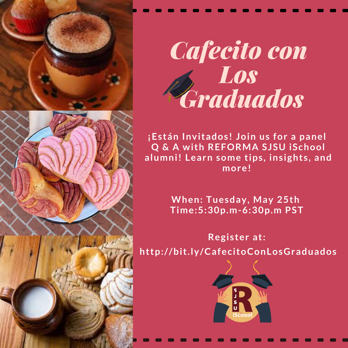 promotional graphic for the cafecito virtual series