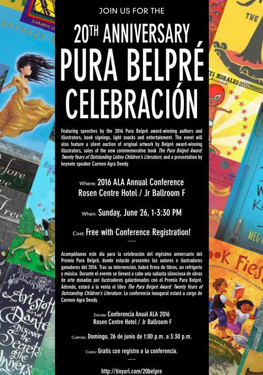 Pura Belpre Award 2016 Annoncement
