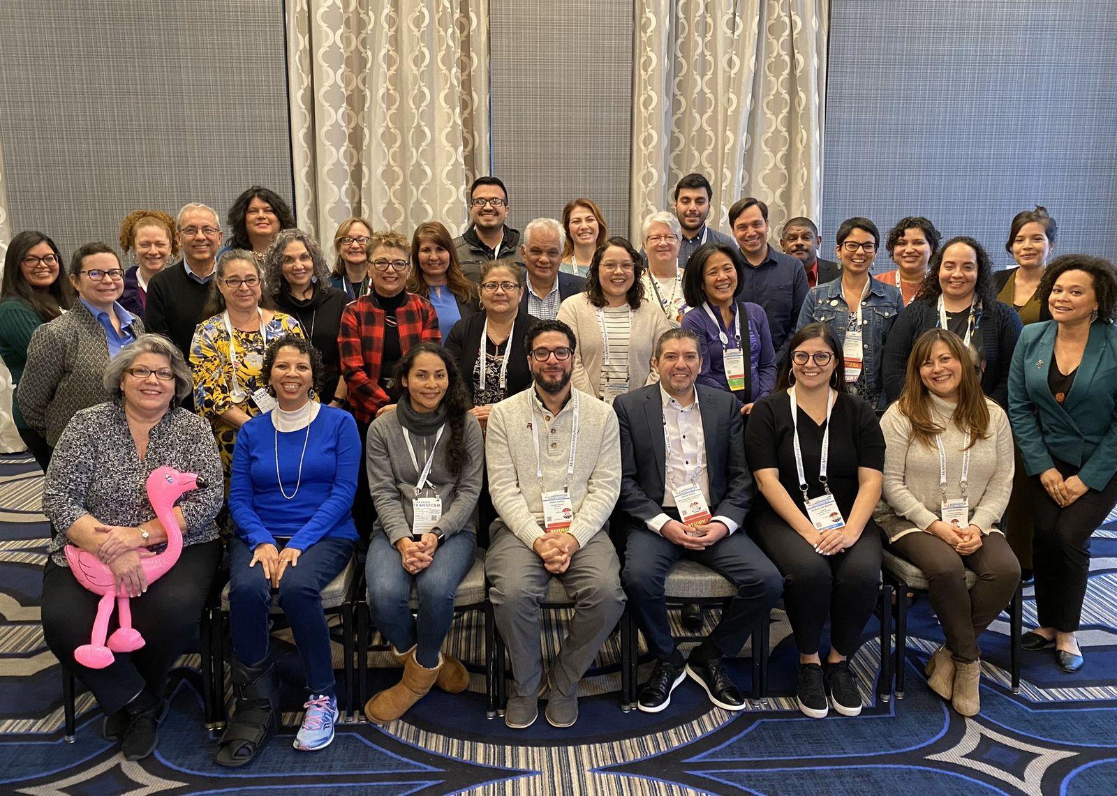 group photo after general membership meeting at ala midwinter 2020