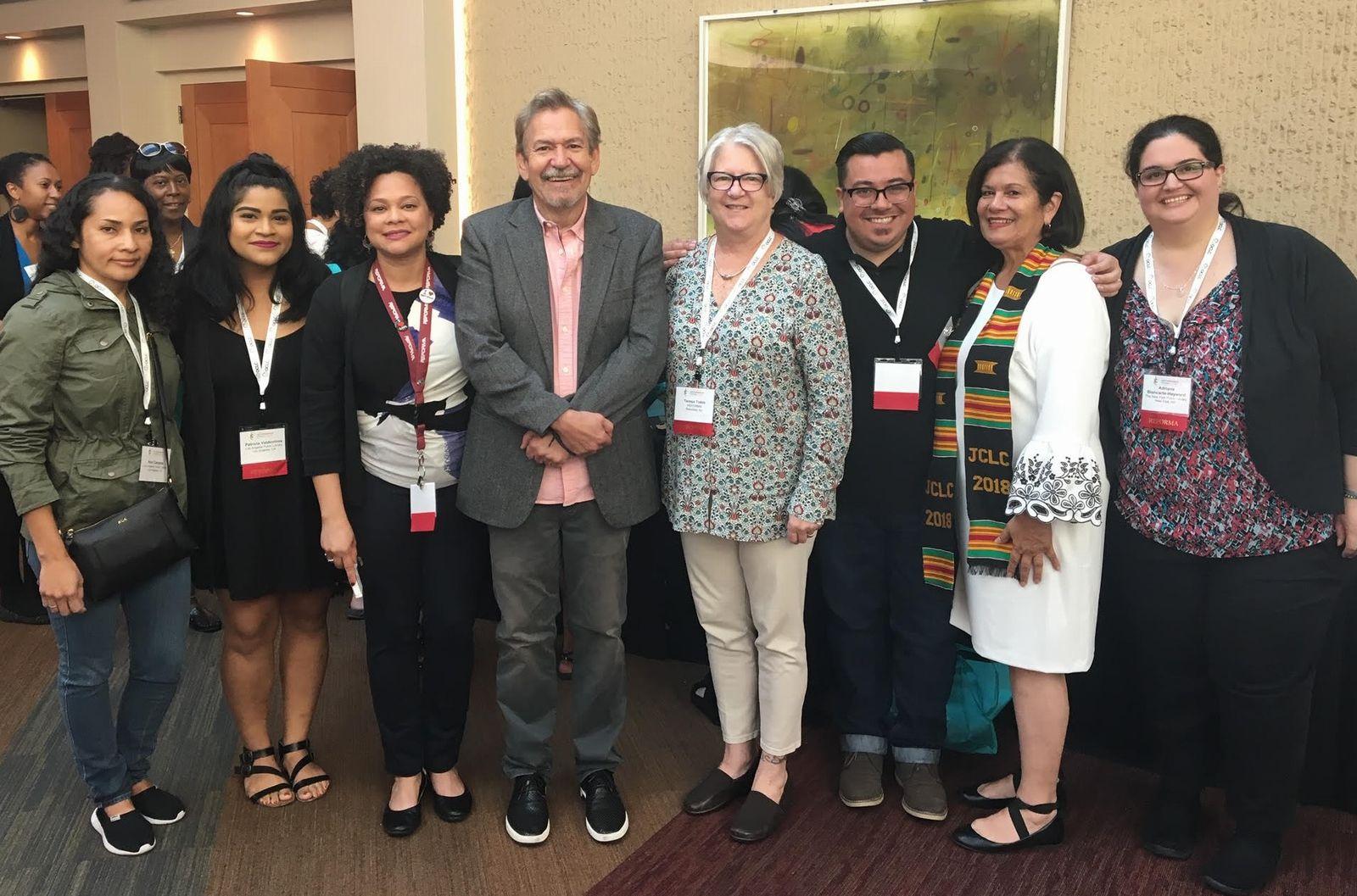 benjamin alire with reforma members at jclc 2018