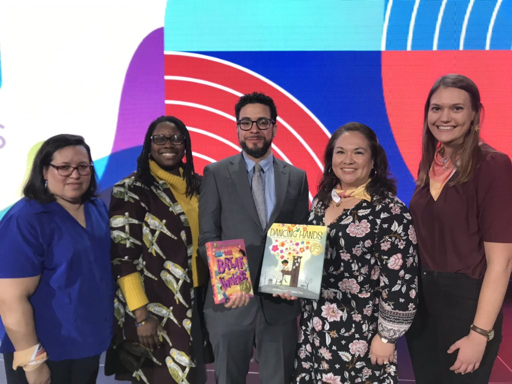 with members of the pura belpre selection committee at ala midwinter 2020